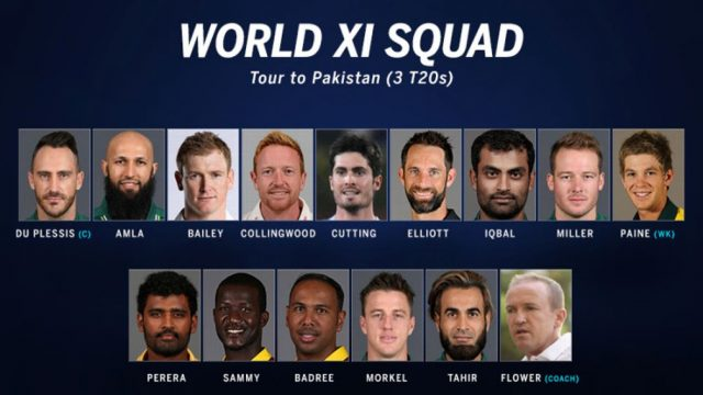 World 11 Squad for 1st ODI against Pakistan 2017